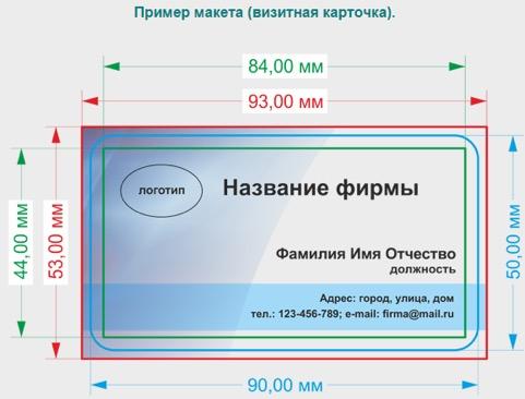 Печать визиток Домодедово